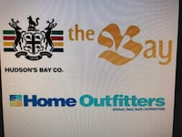 $500 The Bay & Home Outfitters voucher for $450 Innisfil, L9S