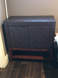 Leather bounded console/cabinet Clifton, 20124