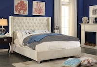 BRAND NEW IN BOX VELVET TUFTED FABRIC BED - WE DELIVER Toronto