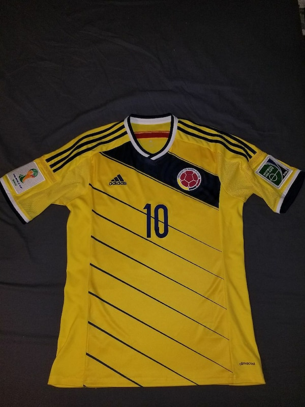 cheap for discount 34e2f 6ea19 Authentic Colombia James World Cup Jersey