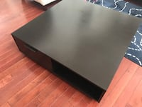 Square black wooden coffee table! Like new! PICK UP & CASH PNLY!