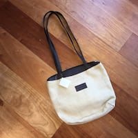 women's white and black tote bag