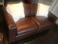 Brown leather 2-seat sofa Herndon, 20171