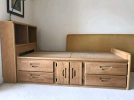 Full Size Solid Oak Bed
