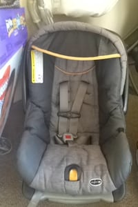 grey carrier car seat