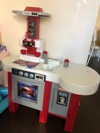 white and red kitchen playset null