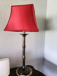 red and black table lamp Upland, 91786