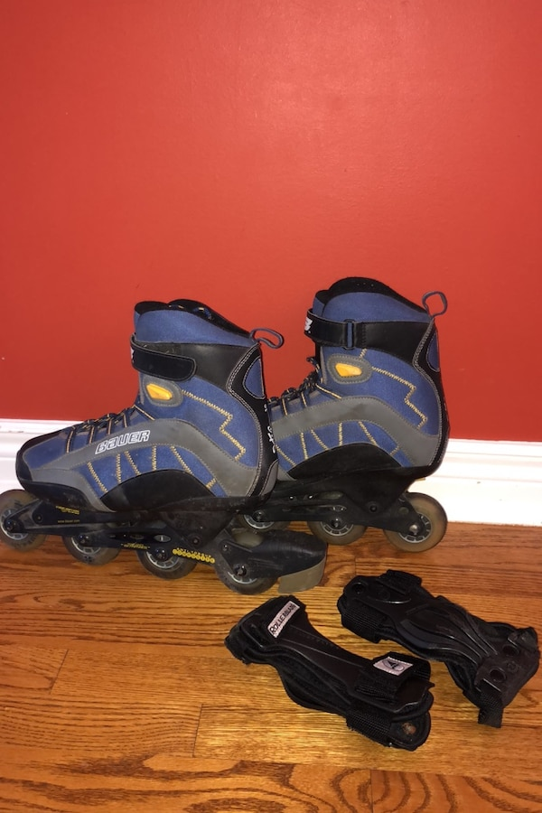 Bauer Roller Blades Men's size 10 includes elbow pads