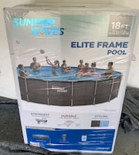 New summer waves 18ft x 48 inches elite frame complete