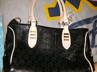 black and white Michael Kors leather tote bag Faison, 28341