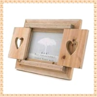 Driftwood Frame With Heart Shutters  Greater London, IG11 9JU