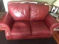 RED LEATHER COUCH Malden, 02148