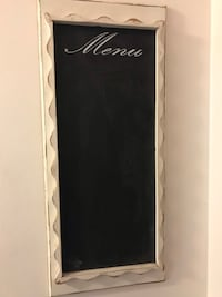 Carved Solid Wood Chalk Menu Board Vancouver, V6R 3C3
