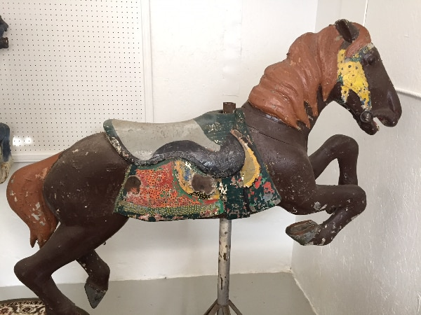 Early 1900s CAROUSEL HORSE - Alan Herschell - Wood - Park Paint, brown bd469241-be55-4370-a096-31c1fd445f5c