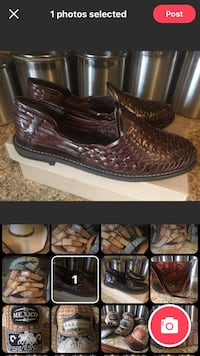 pair of brown leather loafers Fontana, 92335