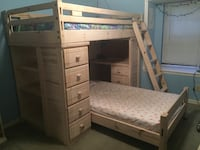 White wooden bunk bed with mattress Land O Lakes, 34639