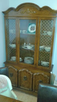 brown wooden display cabinet Vancouver, V5R 4C6