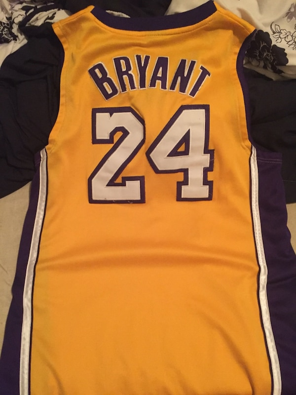 cabb63e2f Used purple yellow kobe bryant 24 jersey shirt for sale in Schenectady -  letgo