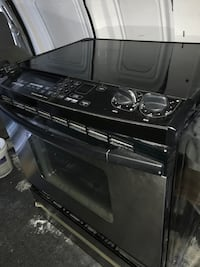 black 4-burner gas range oven Damascus, 20872