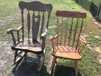 Wooden Rocking Chairs. $20each or Both for $30! They are (mostly) sanded, so all that you need to do is stain or paint them! MUST PICKUP! I live in Sinton. Thanks for looking ! Sinton, 78387
