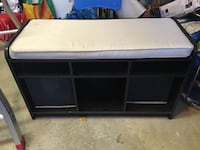 Sitting & storage Bench- espresso with cream pad Vaughan, L4H 3G8