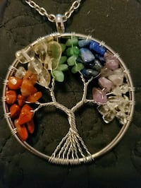 New Chain with Pendant  ( real stones,  multicolored) Toronto, M2M 4B9