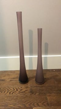 two brown wooden candle holders Innisfil, L9S 2L8