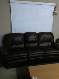 brown leather 3-seat recliner sofa Orlando