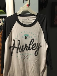 white and black Hurley raglan shirt London, N6J 3Z8