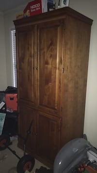 brown wooden cabinet with mirror Davenport, 33897