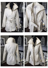 White Guess Woven Coat