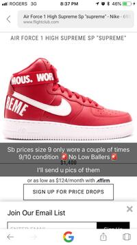NikexSUPREME airforce 1's hightop