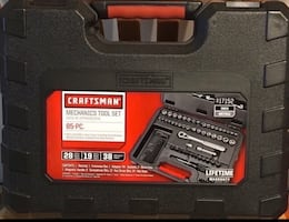 Black and red craftsman mechanics tool set new in case