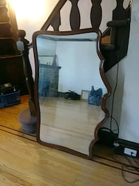 50 year old mirror wood trim