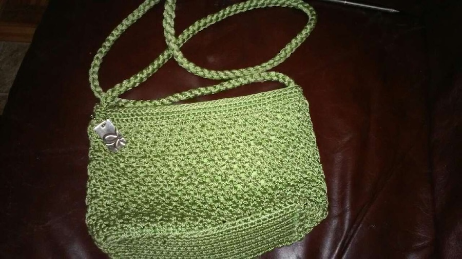 Knitted Sling Bag : ... Guadalupe Fashion and Accessories Womens Green Knitted Sling Bag