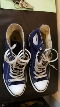 pair of blue Converse All-Star low-tops Milton