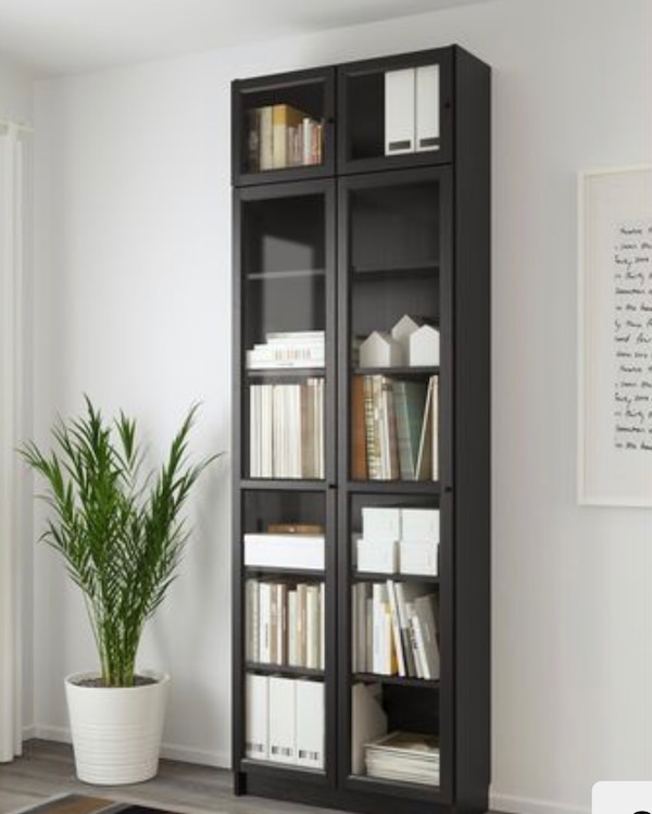 lowest price b1774 115b6 $204 Retail for $35! Ikea Billy Bookcase w/Glass Doors & Extension