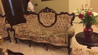 7 piece Victorian style sofa set,                     Riverside, 92503