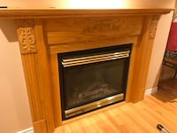 Gas fireplace and wooden mantel Vaughan, L4L