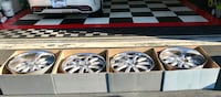 Staggered Concept One Wheels RS-10 Executive Silver Machined Rims Stafford, 22554