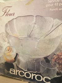 Punch bowl and 12 cups new in box Toronto, M2P 1R1