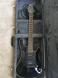 Schecter Blackjack Diamond Series . Case , on - off pedal and cords included . $400 OBO Chestermere, T1X