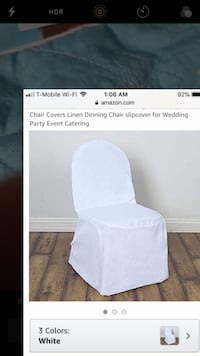 White polyester chair covers for wedding or any event Reston, 20190