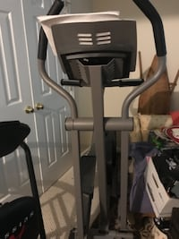 gray and black elliptical trainer null