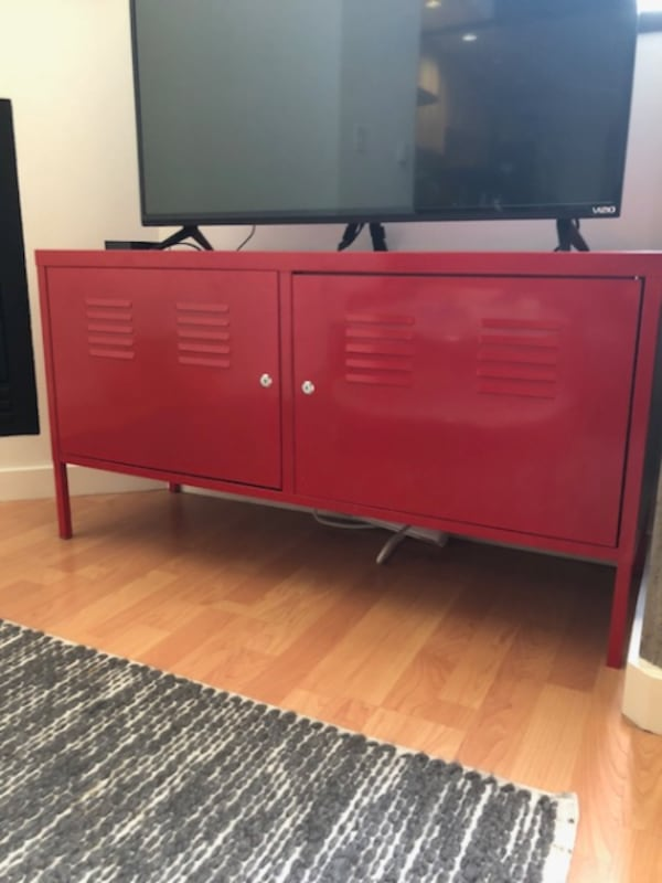 Used Ikea Ps Storage Cabinet Tv Stand Red For Sale In Pleasanton
