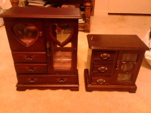 2 antique jewelry boxes - Used 2 Antique Jewelry Boxes For Sale In Rockville - Letgo