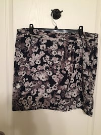EUC Banana Republic navy floral skirt sz 14