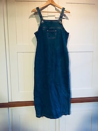Overall denim dress, small vintage 90s 542 km