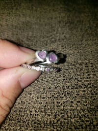 Size 7 diamond & amethyst ring set Chesapeake, 23320