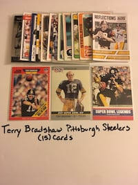 Terry Bradshaw Louisiana Tech Bulldogs Pittsburgh Steelers Hall of Fame QB (15) Card Lot. Set 2 San Jose, 95148